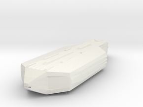 Space Transport Ship Smoothed Ex Large Test in White Natural Versatile Plastic