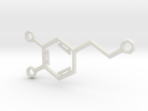 Small Dopamine Molecule in White Natural Versatile Plastic