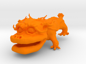 Dragon Dog v01 6cm in Orange Processed Versatile Plastic