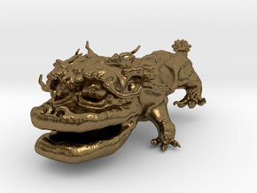 Dragon Dog v01 6cm in Natural Bronze