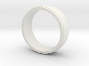 Basic Ring-2 in White Natural Versatile Plastic