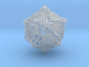 Botanical d20 Ornament in Smooth Fine Detail Plastic