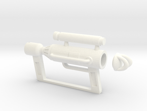 Catgun in White Strong & Flexible Polished