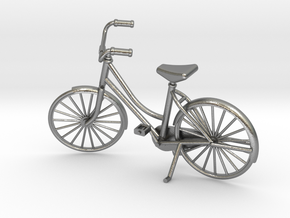Miniature Vintage Bicycle (1:24) in Natural Silver