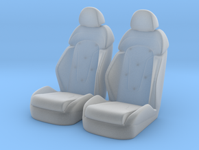 1 16 Luxury Bucket Seat Pair in Smooth Fine Detail Plastic