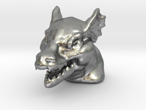DRAGON MONOPOLY PIECE in Natural Silver