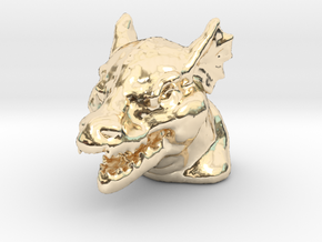 DRAGON MONOPOLY PIECE in 14K Yellow Gold