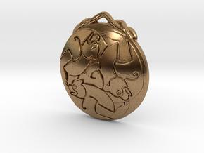 Merida's Keltic Bear Pendant in Natural Brass