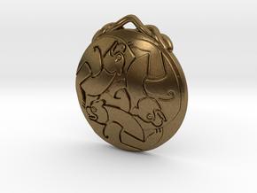 Merida's Keltic Bear Pendant in Natural Bronze