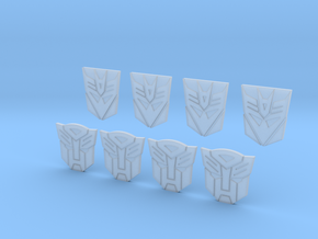 TF Logo's in Smooth Fine Detail Plastic