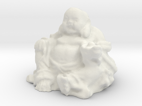Large Buddha in White Natural Versatile Plastic