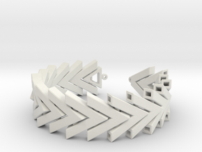 Chevron Bracelet in White Natural Versatile Plastic