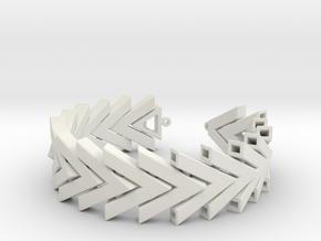 Chevron Bracelet in White Natural Versatile Plastic