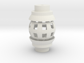 Ball Joint for 1/2 Inch PVC in White Natural Versatile Plastic