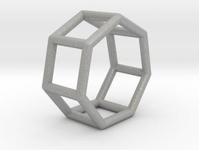 0360 Heptagonal Prism E (a=1cm) #001 in Aluminum