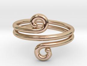 Swirl Design Ring in 14k Rose Gold