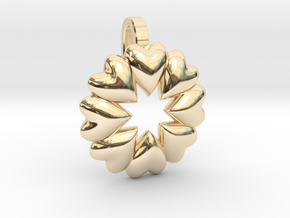 Love Makes The World Go Round  in 14K Yellow Gold