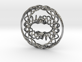 Interwoven Pendant in Polished Silver