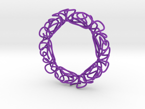 Serendipitous Hexagon in Purple Strong & Flexible Polished