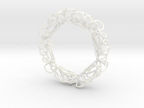 Serendipitous Hexagon in White Processed Versatile Plastic