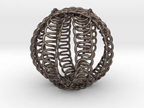 Knot Ball in Polished Bronzed Silver Steel