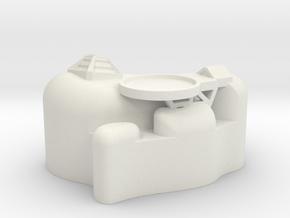 Small Asteriod Base #2 in White Natural Versatile Plastic