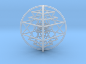 3D Sri Yantra 4 Sided Optimal Large in Smooth Fine Detail Plastic