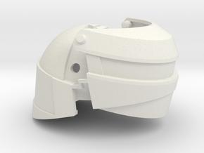 1:6 scale Reptilian Shock Trooper Helmet in White Natural Versatile Plastic