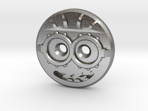 Minion Shirt Button in Natural Silver
