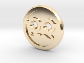 Mr Moustache Shirt Button in 14K Yellow Gold