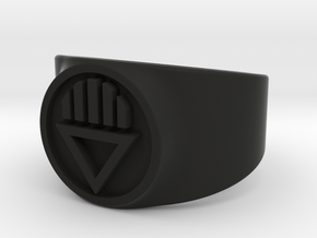 Black Death GL Ring (Sz's 5-15) in Black Natural Versatile Plastic