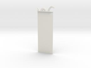 Loch Ness Bookmark in White Natural Versatile Plastic
