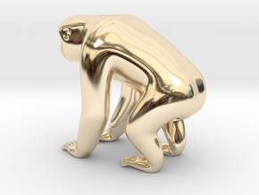 Silvery Gibbon in 14K Yellow Gold