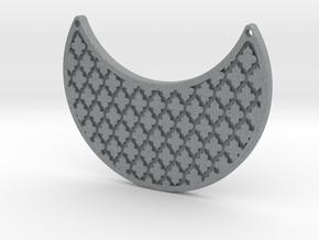 Moon Pendant in Polished Metallic Plastic