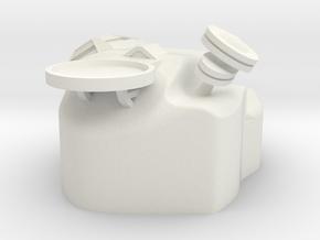Medium Asteriod Base #2 in White Natural Versatile Plastic
