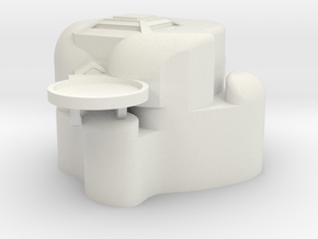 Large Asteriod Base in White Natural Versatile Plastic