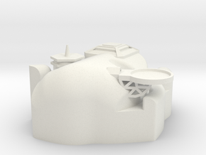 X-Large Asteroid Base in White Natural Versatile Plastic