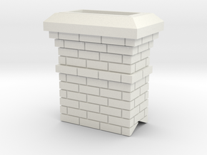 Chimney in White Natural Versatile Plastic
