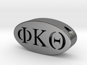 Phi Kappa Theta in Polished Silver