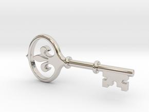 Kappa Key Pendant in Platinum