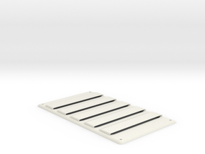 Heat Louver in White Natural Versatile Plastic