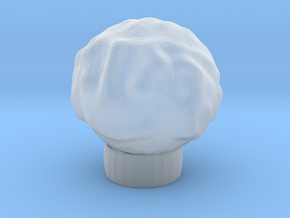Sculptris Head With Hair On Tinkercad Ring in Smooth Fine Detail Plastic