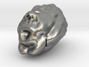 Sculptris Brain in Natural Silver
