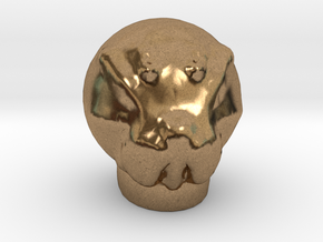 Sculptris Ood head  from Dr Who in Natural Brass
