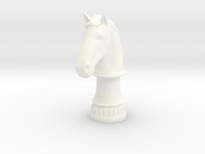 Wild Horse (Round Base) in White Processed Versatile Plastic