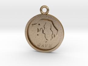 GAVH Pendant in Polished Gold Steel