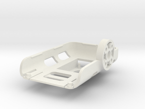 UAVMaker Mobius Tray for Brushless Gimbal with IMU in White Natural Versatile Plastic