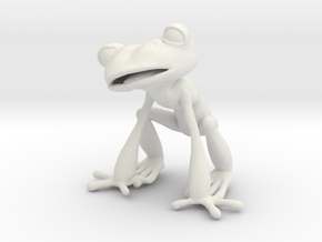 Frog in White Natural Versatile Plastic