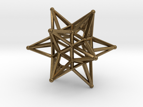 Dodeca Star Wire - 4cm in Natural Bronze