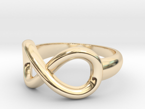 Infinity Ring-Size 7 in 14K Yellow Gold